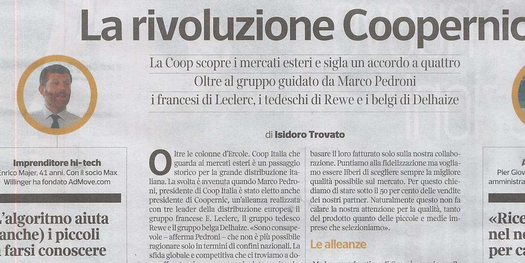 Pubblicità locale: AdMove.com su Corriere Economia, quando l'hi-tech fa volare le piccole imprese
